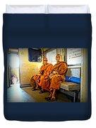 Traveling Monks Duvet Cover