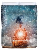 Traveling On Winters Night Duvet Cover
