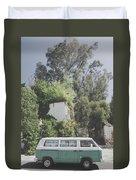 Travelling Vintage Wander Wolkswagen.  Duvet Cover