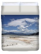 Travertine Hill Of Mammoth Hot Springs  Duvet Cover