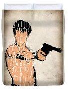 Travis Bickle - Robert De Niro Duvet Cover by Ayse Deniz