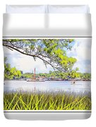 Trawler Waterscape Duvet Cover
