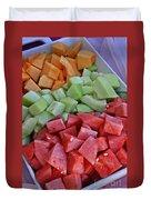 Tray Of Melon Chunks Art Prints Duvet Cover