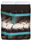 Trays Of Cupcakes Closeup Duvet Cover