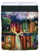 Fairytale Treasure Hunt Book Shelf Variant 2 Duvet Cover