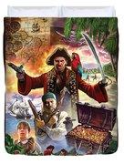 Treasure Island Duvet Cover by Steve Crisp