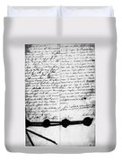 Treaty Of Alliance, 1778 Duvet Cover