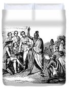 Treaty With Iroquois Indians Five Duvet Cover