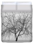 Tree Abstract In Black And White Duvet Cover