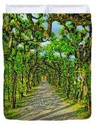 Tree Alley In Castle Park Duvet Cover