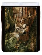 Tree And Buck Duvet Cover