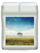 Tree And Meadow Duvet Cover