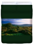 Tree And Plants On A Landscape Duvet Cover