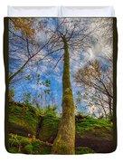 Tree And Rocks Duvet Cover
