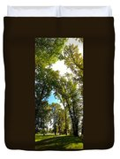 Tree Arches At Clackamette Park Duvet Cover