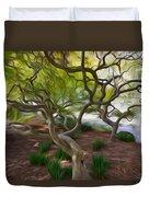 Tree At Norfolk Botanical Garden Duvet Cover