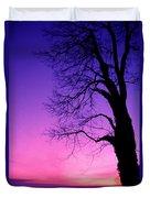 Tree At Sunrise Duvet Cover