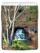 Tree By The Brook Duvet Cover