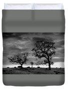Tree Family In Black And White Duvet Cover