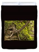 Tree Grows From Rock Outcrop Duvet Cover
