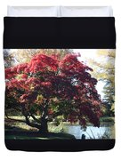 Tree Hanging Into Lake Duvet Cover