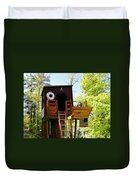 Tree House Boat 2 Duvet Cover