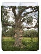 Tree Hugging Green Ecological Concept  Duvet Cover