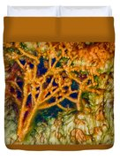 Tree In A Park Hot Springs Duvet Cover