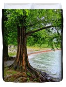 Tree In Paradise Duvet Cover