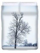 Tree In Snow Duvet Cover