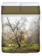 Tree In The Fog Duvet Cover