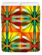 Tree Light Square Pattern Duvet Cover