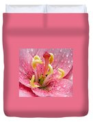 Tree Lily Upclose With Ant Duvet Cover