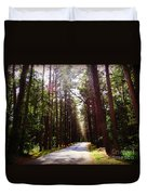 Tree Lined Road Duvet Cover by Crystal Joy Photography
