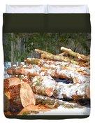 Tree Logs  Duvet Cover