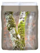 Tree Moss Abstract Duvet Cover