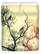 Tree Of Crows II Lights Duvet Cover
