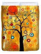 Tree Of Happiness 647 - Marucii Duvet Cover