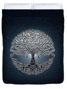 Tree Of Life Nova Blue Duvet Cover