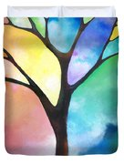 Original Art Abstract Art Acrylic Painting Tree Of Light By Sally Trace Fine Art Duvet Cover