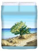 Tree On The Beach Duvet Cover