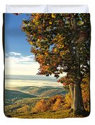 Tree Overlook Vista Landscape Duvet Cover
