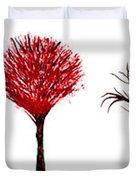 Tree Paintings In Wax Duvet Cover