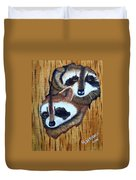 Tree Raccoons Duvet Cover