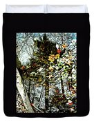 Tree Reflected In Leaves Duvet Cover