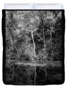 Tree Reflection In Chesapeake And Ohio Canal Duvet Cover