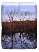 tree reflection on Wv pond Duvet Cover