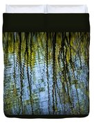 Tree Reflections On A Pond In West Michigan Duvet Cover
