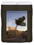 Tree Rock Wyoming Duvet Cover