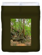 Tree Roots On Rock Duvet Cover